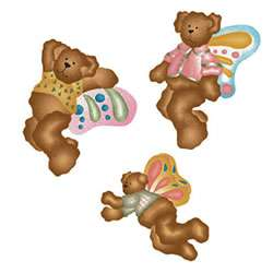 Teddy Bears Bear Wallies Cutouts Stickers Decals 071473129505