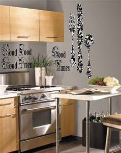 Silverware Giant Wall Decals Stickers Decor Kitchen Cafe RMK1742SLG