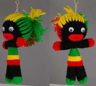 Cute Voodoo Doll keychain keyring African Tribal Girl