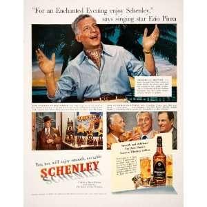1950 Ad Schenley Blended Whiskey Ezio Pinza Singer