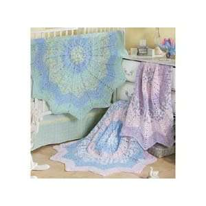 Variegated Round Ripple Baby Afghan Crochet Kit Arts