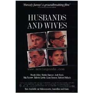 Wives Poster B 27x40 Woody Allen Mia Farrow Judy Davis: Home & Kitchen