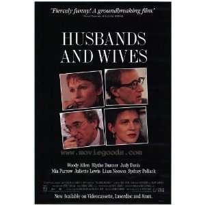 Wives Poster B 27x40 Woody Allen Mia Farrow Judy Davis: Home & Kitchen