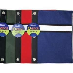 BAZIC Assorted Color 3 Ring Pencil Pouch Electronics