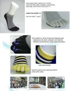 patented mens fashion ankle toe socks 4 pairs