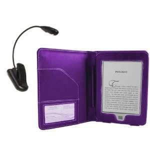 Navitech Purple Premium Executive Leather Flip Folio Book Style Carry