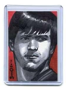 AJ McCARRON 2011 AOJ Sketch Card ALABAMA Crimson Tide QB #1