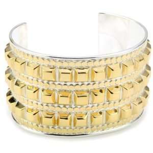 Anna Beck Designs Java Large Studded 18k Gold Plated Cuff