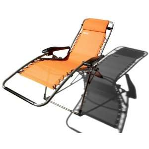 Strathwood Anti Gravity Adjustable Recliner, Orange Patio