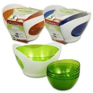 Salad Bowl Set, Picnic Time 5 Piece Case Pack 6
