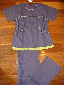 4007 New Nursing Hospital Scrub Top Flare Pant set Medical uniform
