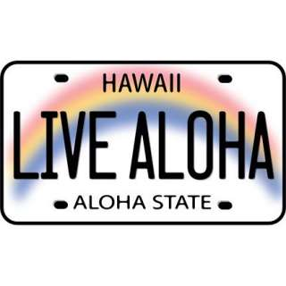 Live Aloha License Plate Sticker Decal from Hawaii