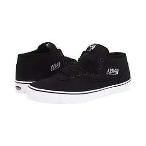 Vans Shoes Half Cab 14oz Canvas   Black: Sports & Outdoors