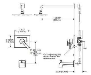 Delta Vero T17453 Tub and Shower Faucet Trim Chrome   Authorized
