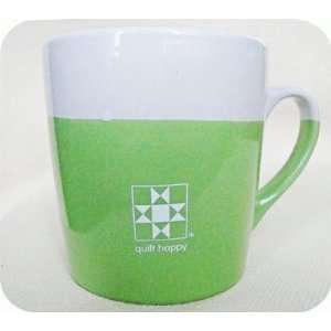 Quilt Happy Color Dip Mug   Green
