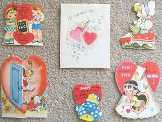 SIX VINTAGE VALENTINES DAY VALENTINE CARDS 6