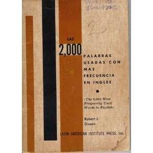 Las 2,000 [dos mil] palabras usadas con mas frecuencia en ingles