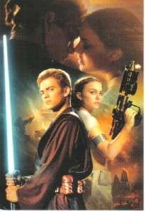 Star Wars Anakin Skywalker & Padme 4 x 6 Postcard #1