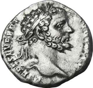Septimius Severus AR Denarius. Mars. Ancient Roman Coin