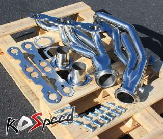 STEEL SS EXHAUST HEADER 88 97 CHEVY GMC PICK UP 5.0 5.7 YUKON SUBURBAN