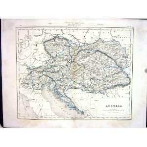 College Antique Map C1875 Archer Austria Vienna Bohemia
