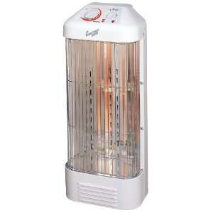 Howard Berger Comfort Zone Fan Forced Quartz Heater with Beveled Top