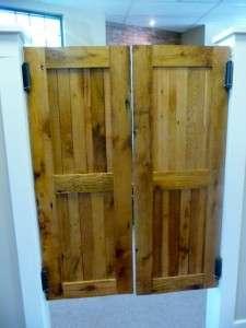 reclaimed antique old barn wood swinging saloon doors