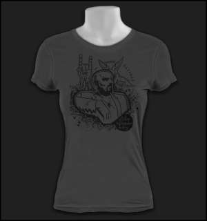 Women ANTON LAVEY Church Satan Crowley Lady Shirt S 3XL