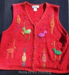 Susan Bristol ugly Christmas sweater vest party winner