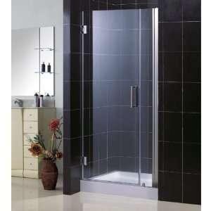 DreamLine UNIDOOR Frameless 34 35 inch Adjustable Shower DoorBrushed