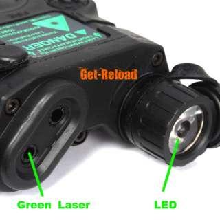 Functional PEQ 15 LED Flashlight Illuminator & Green Laser Module for