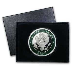 1 oz U.S. Army Enameled Silver Round (w/Gift Box & Capsule