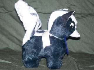 Vtg MTSU Personality Pet Skunk Plush 50s Toy Tag 1950s