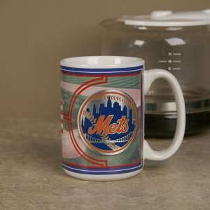 New York Mets 15 oz. Ceramic Mug Sports & Outdoors