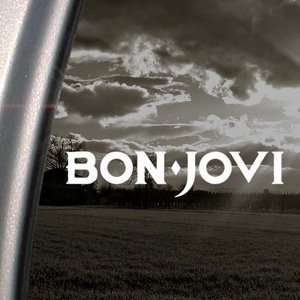 Bon Jovi Decal Jon Rock Band Truck Window Sticker
