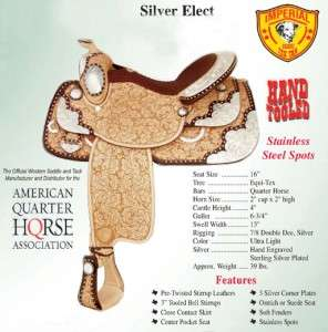 NEW! Tex Tan Silver Elect Show Saddle 16 Ultra Lite