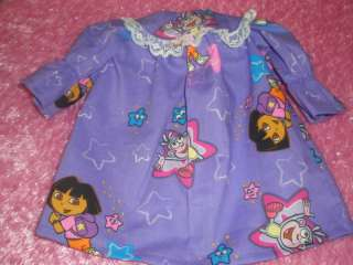 CLOTHES FOR BITTY BABY OR TWINS / AMERICAN GIRL PURPLE DORA NIGHTGOWN