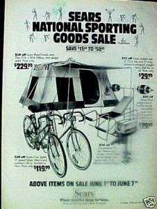 1980  Free Spirt 10 Speed Bicycle,Bike Tent Art AD