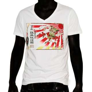 Tattoo Art T Shirt Samurai Rising Sun Sake Ad