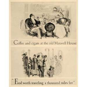 1926 Maxwell House Coffee Cigars Henry Raleigh Print
