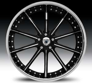 24 Asanti AF160 Black Chrome Wheels Rims 2 Piece Tone