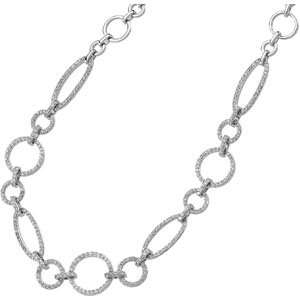 Gold Diamond Necklace. 1 1/2 Ct Tw Diamond Necklace In 14K White Gold