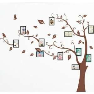 Brown Photo Picture Frame Tree Vine Branch Removable Wall Decor Decal