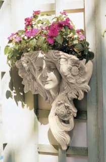 Art Nouveau French Lady Spring Wall Sculpture Greenman
