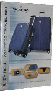 Beverly Hills Easy Roll 2 Piece Travel Luggage Set NEW in box Blue