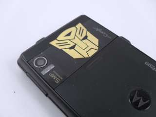 G1 Gold Metallic Autobot Logo Cell Phone (Mobile) Sticker/Deca