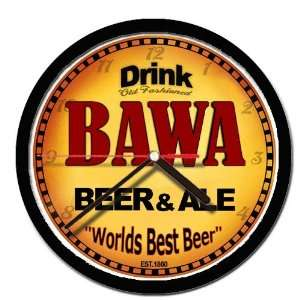 BAWA beer and ale cerveza wall clock