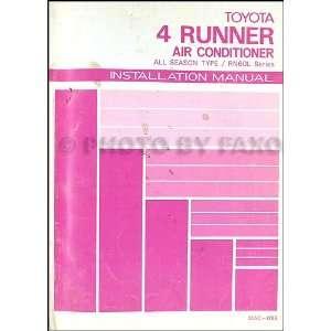 Toyota 4Runner Air Conditioner Installation Manual Original Toyota