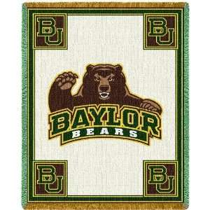 Baylor University Bears Jacquard Woven Throw   69 x 48