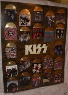 KISS Gold Album POSTER w/ DIE CUT LOGO new AWESOME WOW